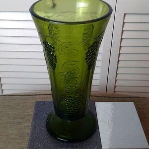 Indiana Vintage Glass Footed Vase
